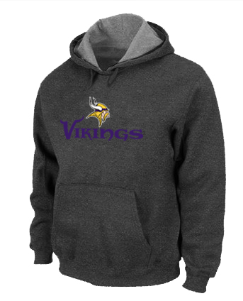 Minnesota Vikings Authentic Logo Pullover Hoodie D.Grey