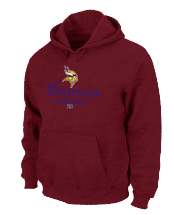 Minnesota Vikings Critical Victory Pullover Hoodie RED
