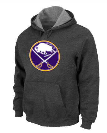 NHL Buffalo Sabres Big Tall Logo Pullover Hoodie D.Grey