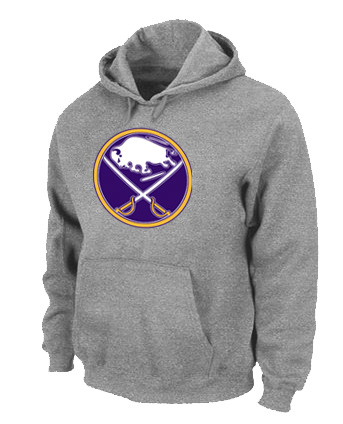 NHL Buffalo Sabres Big Tall Logo Pullover Hoodie Grey