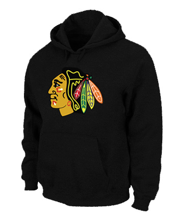 NHL Chicago Blackhawks Big Tall Logo Pullover Hoodie Black