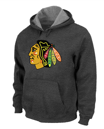 NHL Chicago Blackhawks Big Tall Logo Pullover Hoodie D.Grey