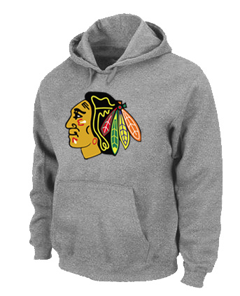 NHL Chicago Blackhawks Big Tall Logo Pullover Hoodie Grey