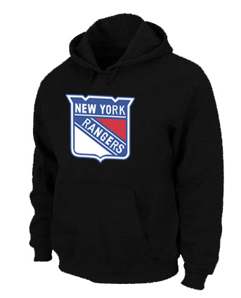 NHL New York Rangers Big Tall Logo Pullover Hoodie Black
