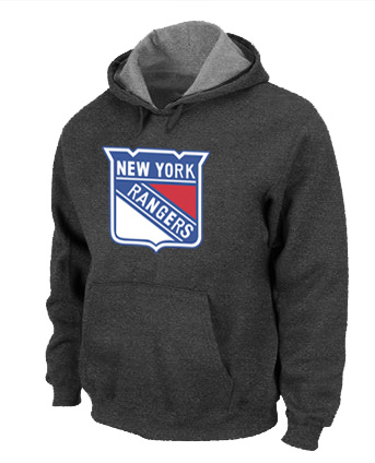 NHL New York Rangers Big Tall Logo Pullover Hoodie D.Grey