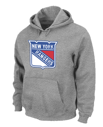 NHL New York Rangers Big Tall Logo Pullover Hoodie Grey