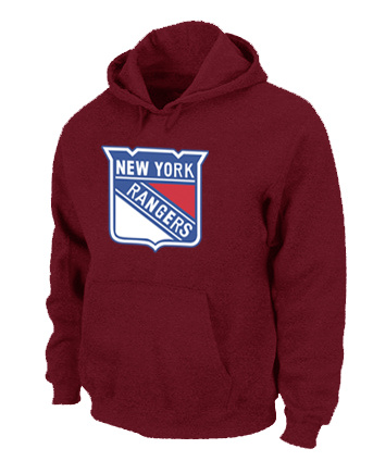 NHL New York Rangers Big Tall Logo Pullover Hoodie Red
