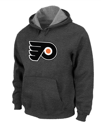 NHL Philadelphia Flyers Big Tall Logo Pullover Hoodie D.Grey