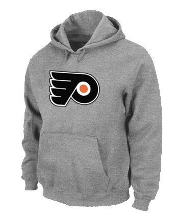 NHL Philadelphia Flyers Big Tall Logo Pullover Hoodie Grey