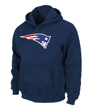 New England Patriots Logo Pullover Hoodie D.Blue