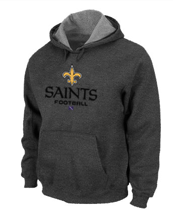 New Orleans Saints Critical Victory Pullover Hoodie D.Grey