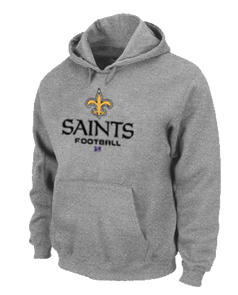 New Orleans Saints Critical Victory Pullover Hoodie Grey