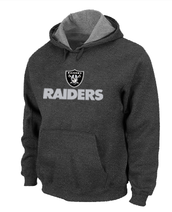 Oakland Raiders Authentic Logo Pullover Hoodie D.Grey