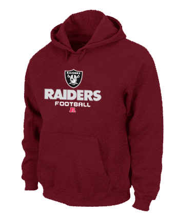 Oakland Raiders Critical Victory Pullover Hoodie RED