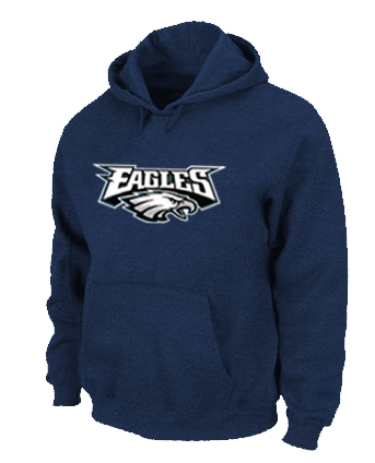 Philadelphia Eagles Authentic Logo Pullover Hoodie D.Blue