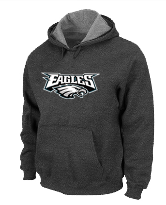 Philadelphia Eagles Authentic Logo Pullover Hoodie D.Grey