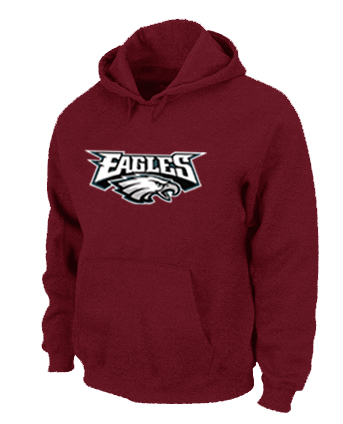 Philadelphia Eagles Authentic Logo Pullover Hoodie RED