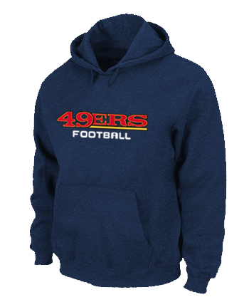 San Francisco 49ers Authentic font Pullover Hoodie D.Blue