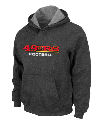 San Francisco 49ers Authentic font Pullover Hoodie D.Grey