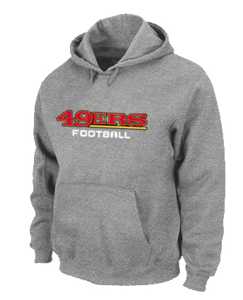 San Francisco 49ers Authentic font Pullover Hoodie Grey