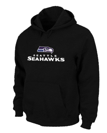 Seattle Seahawks Authentic Logo Pullover Hoodie Black