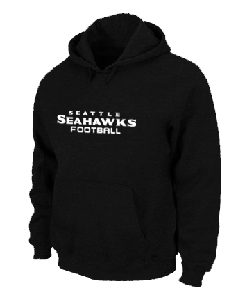 Seattle Seahawks Authentic font Pullover Hoodie Black