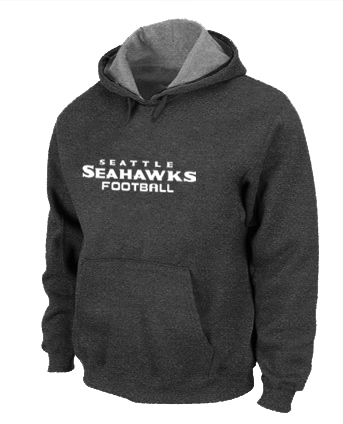 Seattle Seahawks Authentic font Pullover Hoodie D.Grey