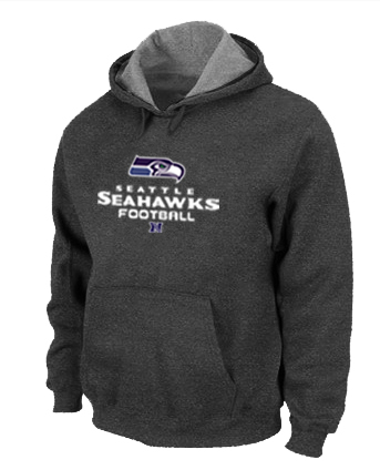 Seattle Seahawks Critical Victory Pullover Hoodie D.Grey