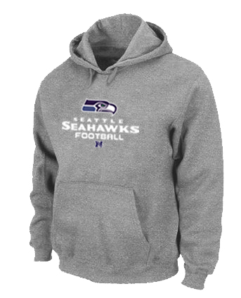 Seattle Seahawks Critical Victory Pullover Hoodie Grey