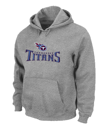 Tennessee Titans Authentic Logo Pullover Hoodie Grey
