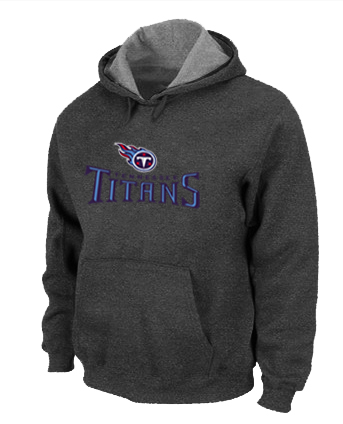 Tennessee Titans Authentic Logo Pullover Hoodie D.Grey