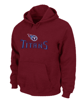 Tennessee Titans Authentic Logo Pullover Hoodie RED