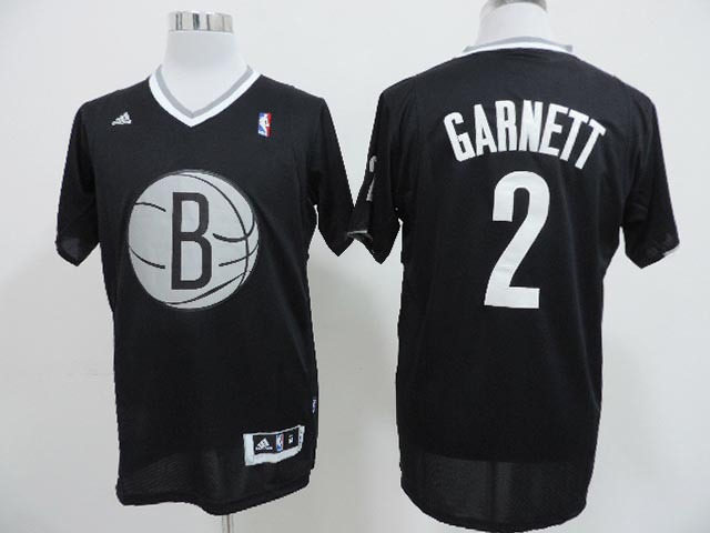 NBA Brooklyn Nets 2 Kevin Garnett Black 2013 Christmas Day Jersey