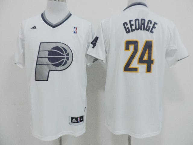 NBA Indlana Pacers 24 Paul George White 2013 Christmas Day Jersey