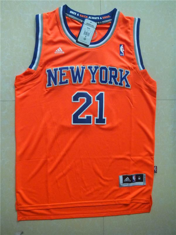 NBA New York Knicks 21 Iman Shumpert Orange Jersey