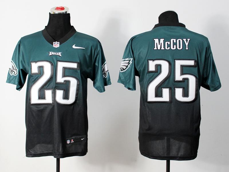 Philadelphia Eagles 25 McCoy Green Black Nike Drift Fashion II Elite Jerseys