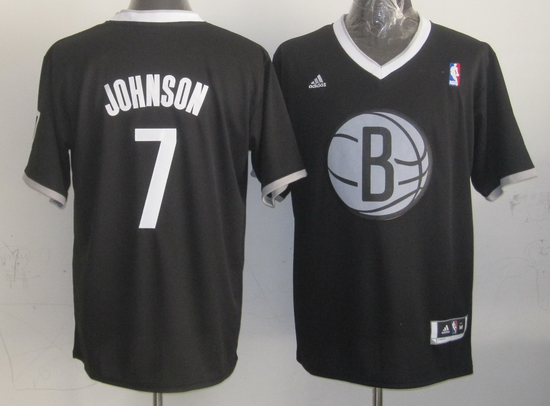 NBA Brooklyn Nets 7 Joe Johnson Replica Black 2013 Christmas Day Jersey