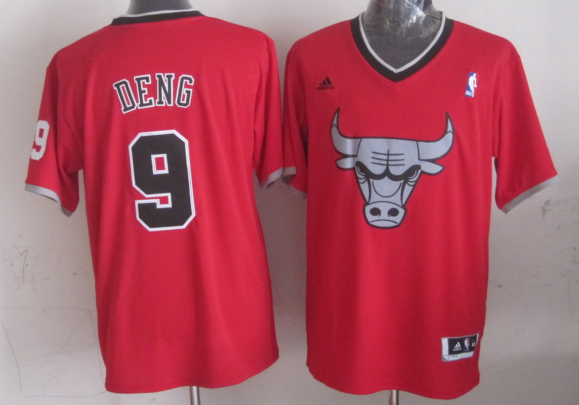 NBA Chicago Bulls 9 Luol Deng Red 2013 Christmas Day Jersey