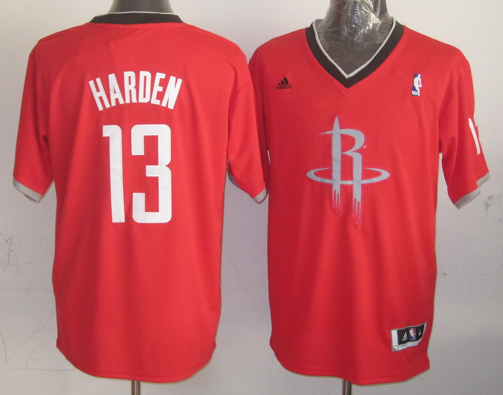 NBA Houston Rockets 13 The Beard Red 2013 Christmas Day Jersey