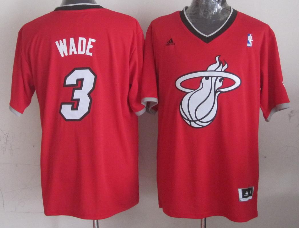 NBA Miami Heat 3 Dwyane Wade Red 2013 Christmas Day Jersey