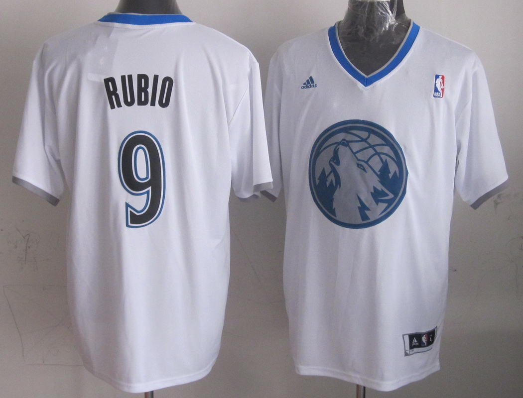 NBA Minnesota Timberwolves 9 Ricky Rubio White 2013 Christmas Day Jersey