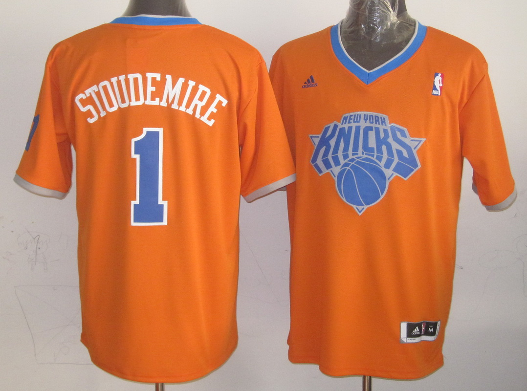 NBA New York Knicks 1 Amare Stoudemire Orange 2013 Christmas Day Jersey