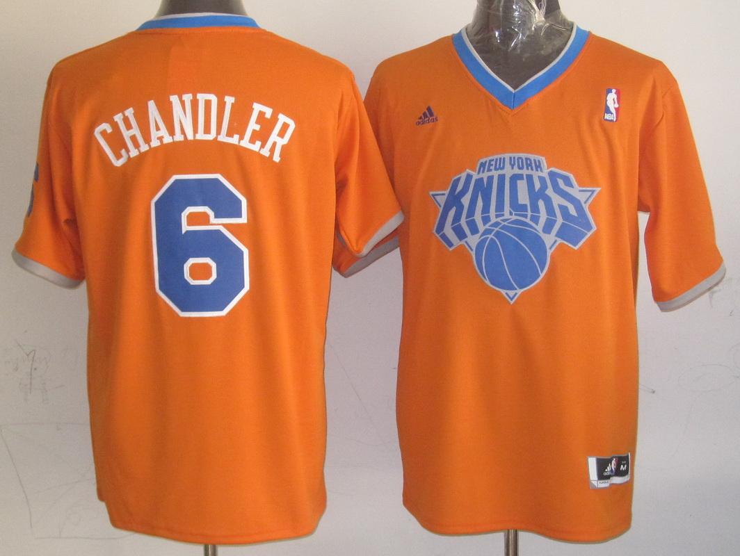 NBA New York Knicks 6 Tyson Chandler Orange 2013 Christmas Day Jersey