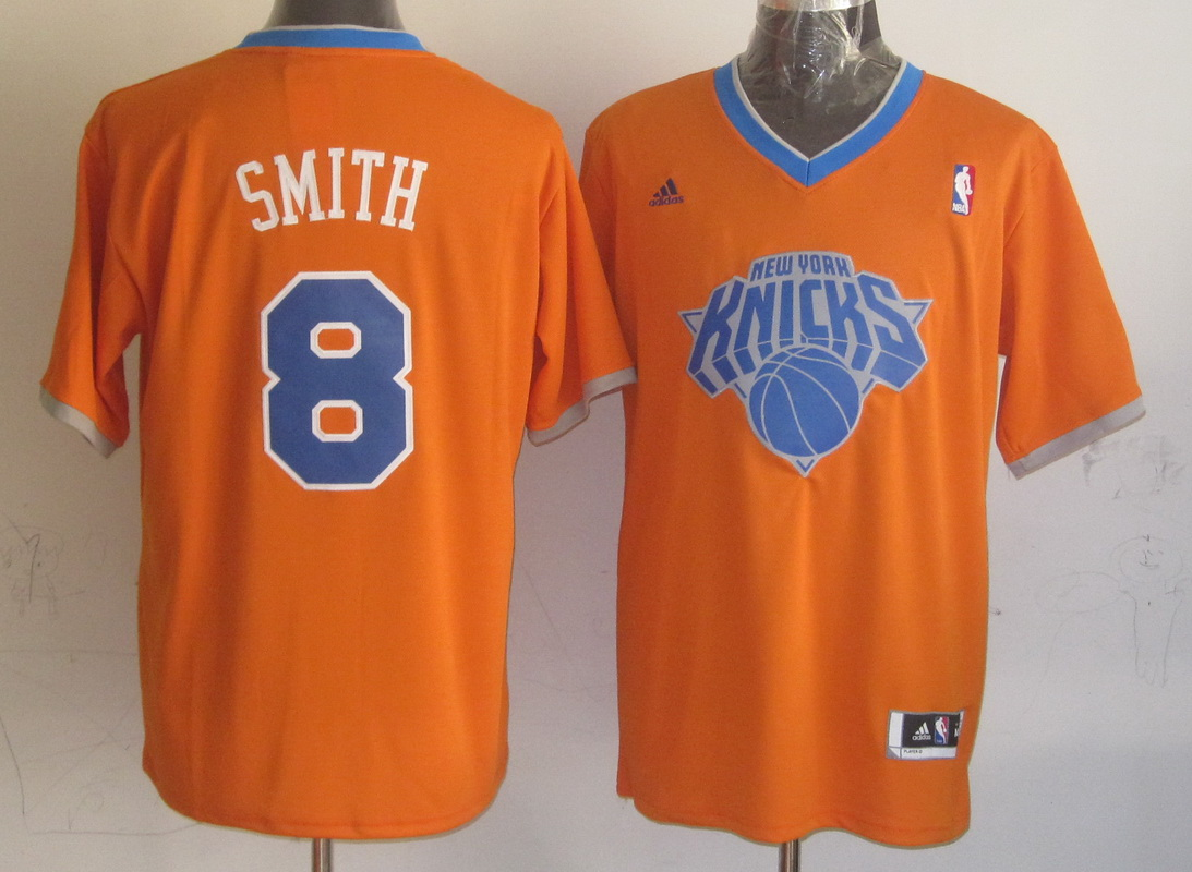 NBA New York Knicks 8 J.R. Smith Orange 2013 Christmas Day Jersey