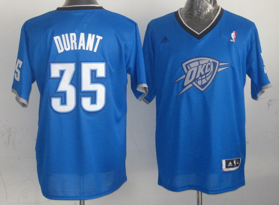 NBA Oklahoma City Thunder 35 Kevin Durant Blue 2013 Christmas Day Jersey