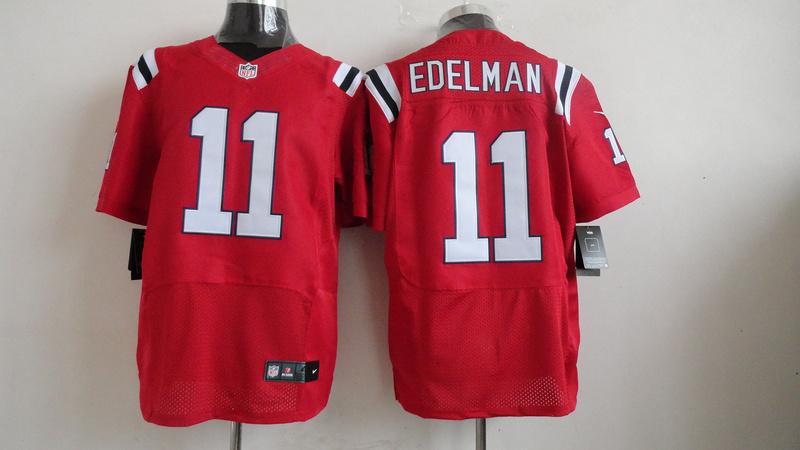 New England Patriots 11 Julian Edelman Red 2013 Nike Elite Jerseys