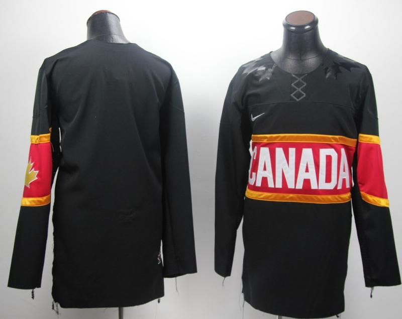 NHL 2014 Winter Olympic Team Canada Blank Black Hockey Jersey