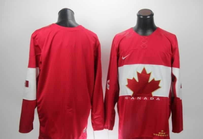 NHL 2014 Winter Olympic Team Canada Blank Red Hockey Jersey