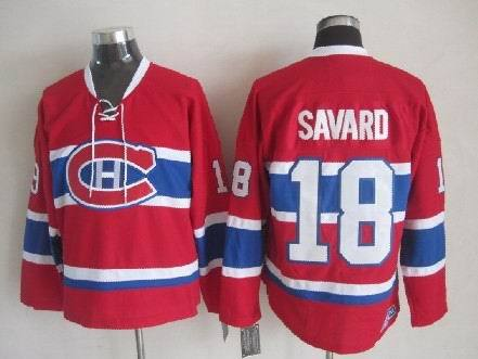 NHL Montreal Canadiens 18 Serge Savard Red Home CCM Jersey