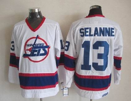 NHL New York Islanders 13 Selanne white Jerseys